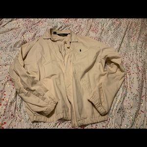 Men's polo khakis light weight coat